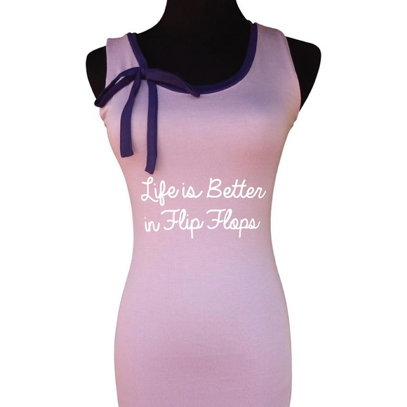 5ce61db53 Lilac Life is Better in Flip Flops Tank Top